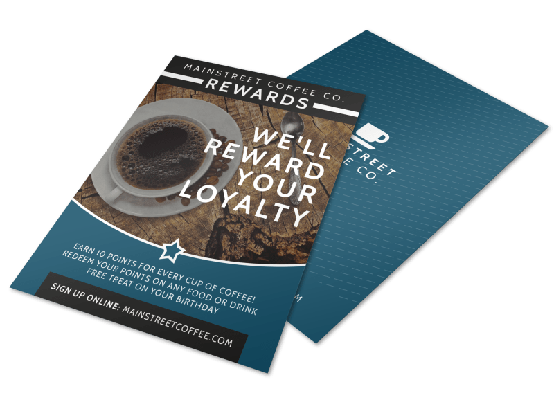 Coffee Rewards Flyer Template Preview 1