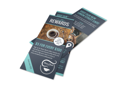Coffee Rewards Program Flyer Template preview