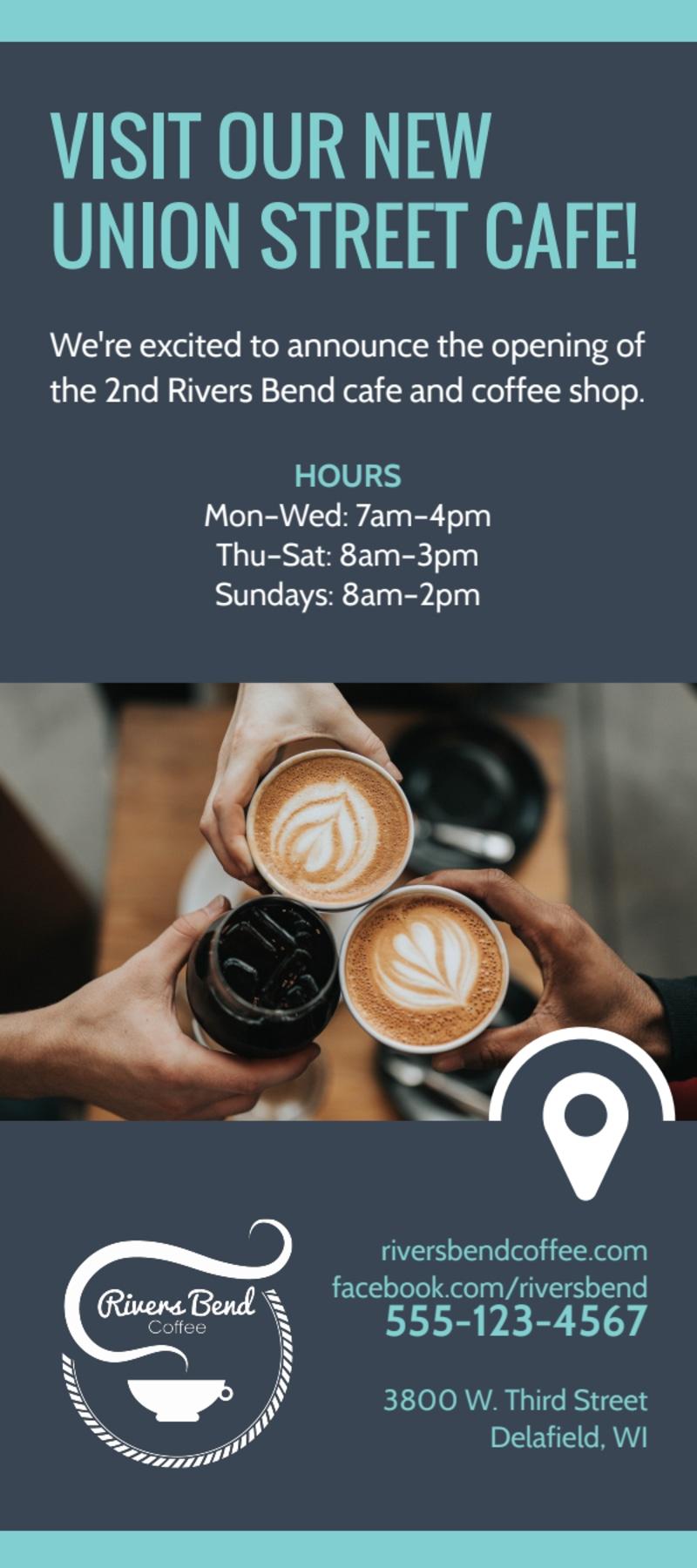 Coffee Rewards Program Flyer Template Preview 3