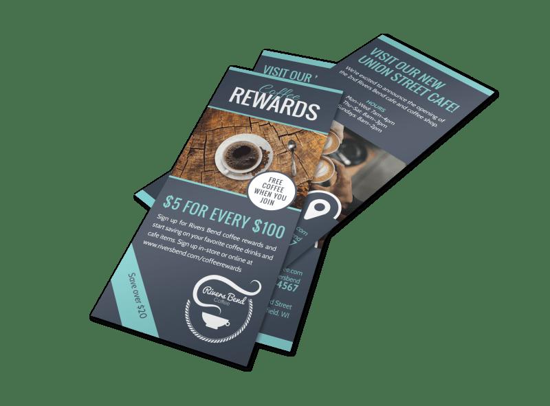 Coffee Rewards Program Flyer Template Preview 1