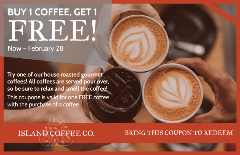 Coffee BOGO Postcard Template Preview 2