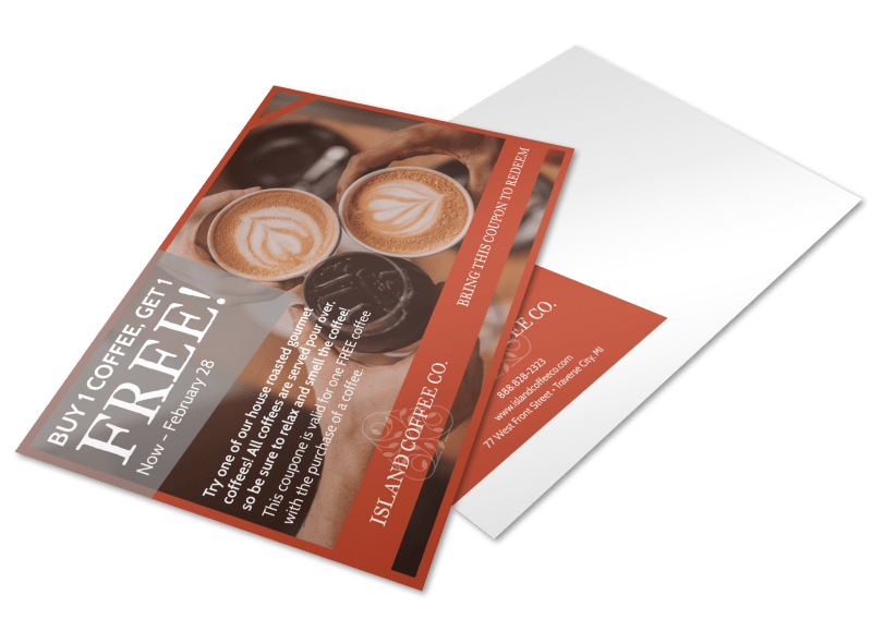 Coffee BOGO Postcard Template Preview 1