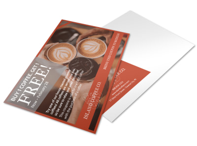 Coffee BOGO Postcard Template preview