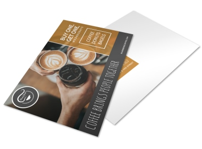 Wednesday Coffee BOGO Postcard Template preview