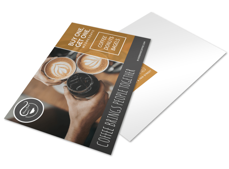 Wednesday Coffee BOGO Postcard Template Preview 1