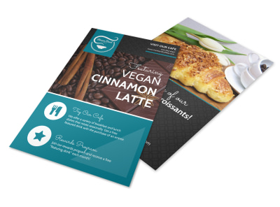 Latte Featured Drink Flyer Template preview
