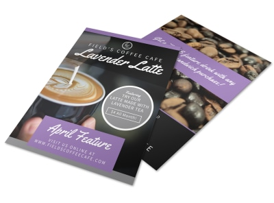 April Featured Drink Flyer Template preview