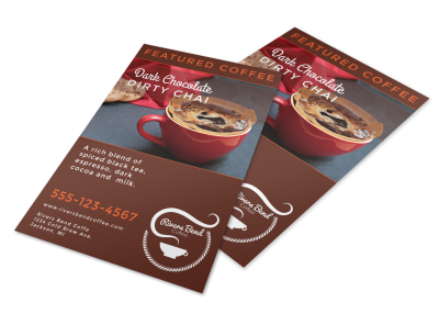 Featured Coffee Drink Flyer Template preview