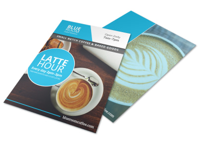 Latte Hour Flyer Template preview