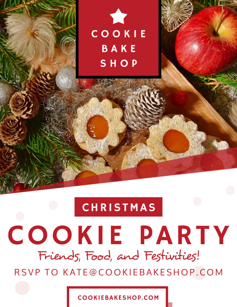 Christmas Cookie Party Flyer - Front