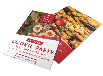 Christmas Cookie Party Flyer Template Preview 1