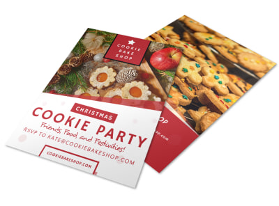 Christmas Cookie Party Flyer Template preview