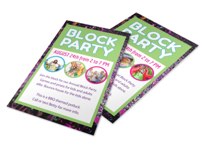 Fun Block Party Flyer Template preview