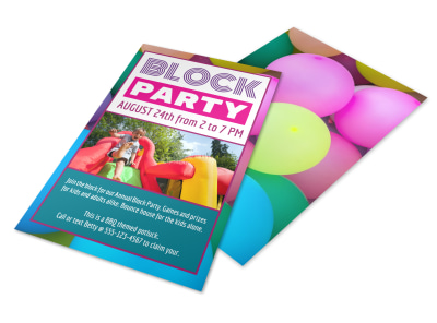 Friendly Block Party Flyer Template preview