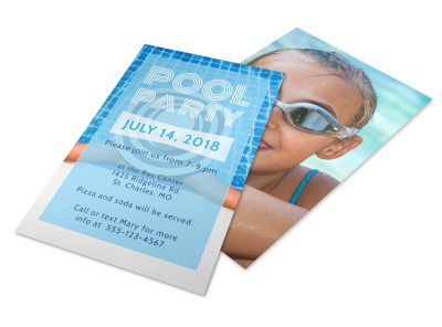 Pool Party Flyer Template preview