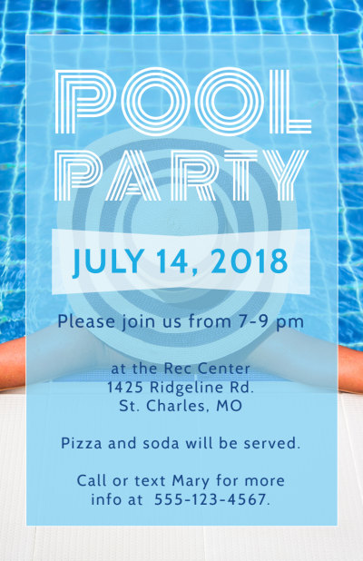 Pool Party Flyer Template Preview 1