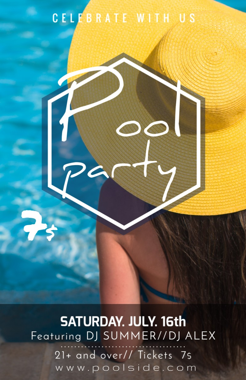 Fancy Pool Party Flyer Template Preview 2
