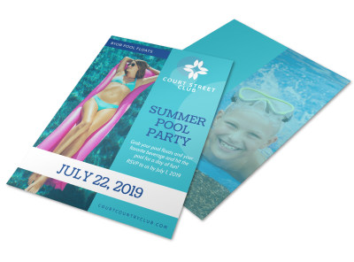 Summer Pool Party Flyer Template preview