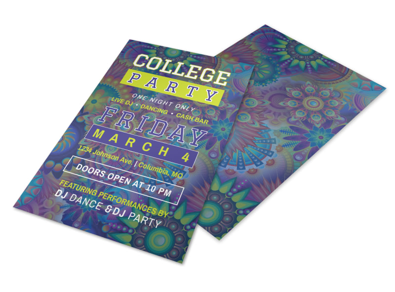 college party flyer template mycreativeshop