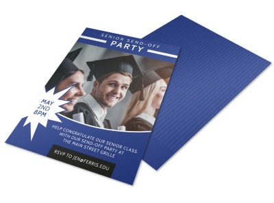 Senior Send-Off College Party Flyer Template preview