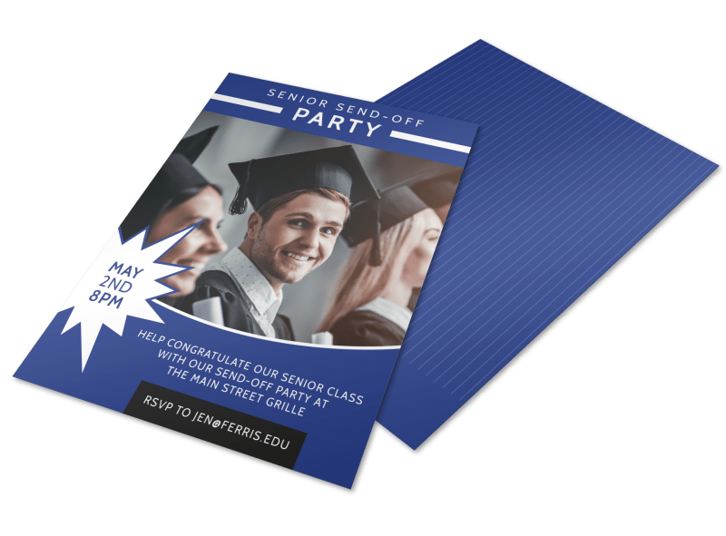 Senior Send-Off College Party Flyer