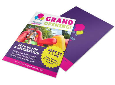 Grand Opening Party Flyer Template preview