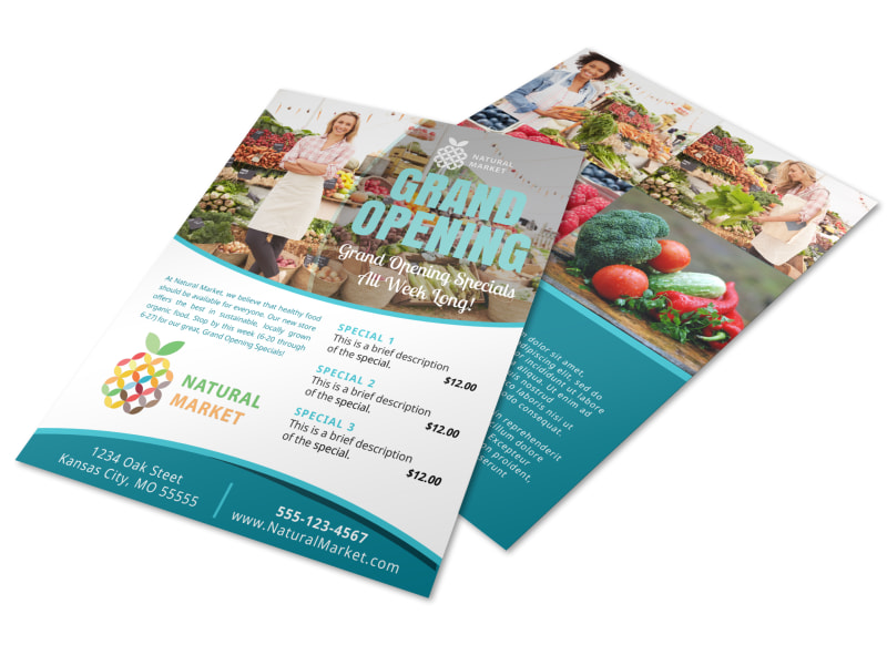 Grand Opening Market Flyer Template
