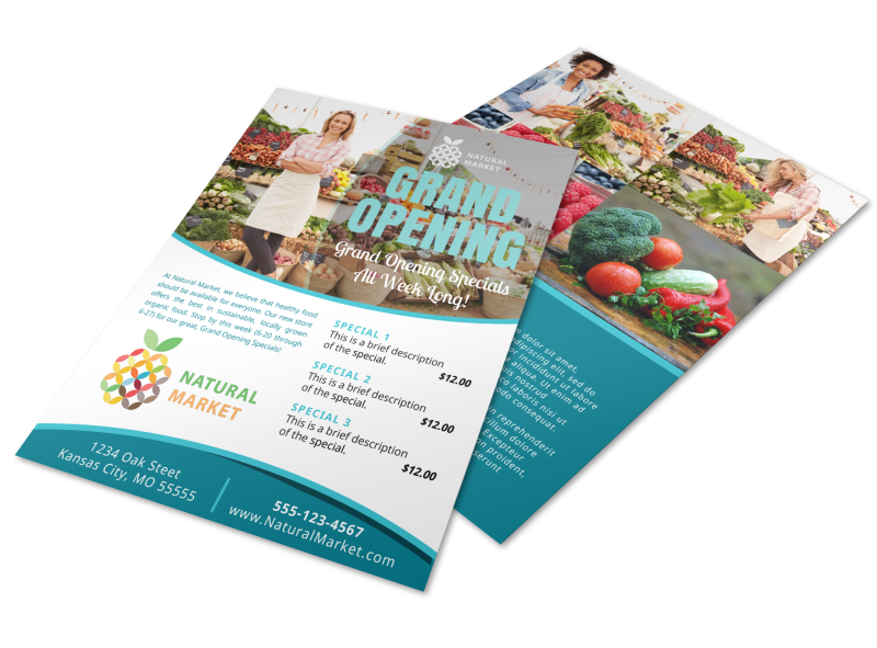 Grand Opening Market Flyer Template Preview 1