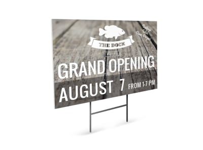 Grand Opening Fish Market Yard Sign Template preview