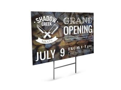 Grand Opening Butcher Yard Sign Template preview
