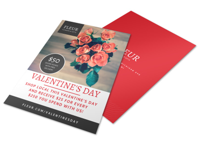 Floral Valentine's Day Flyer Template preview