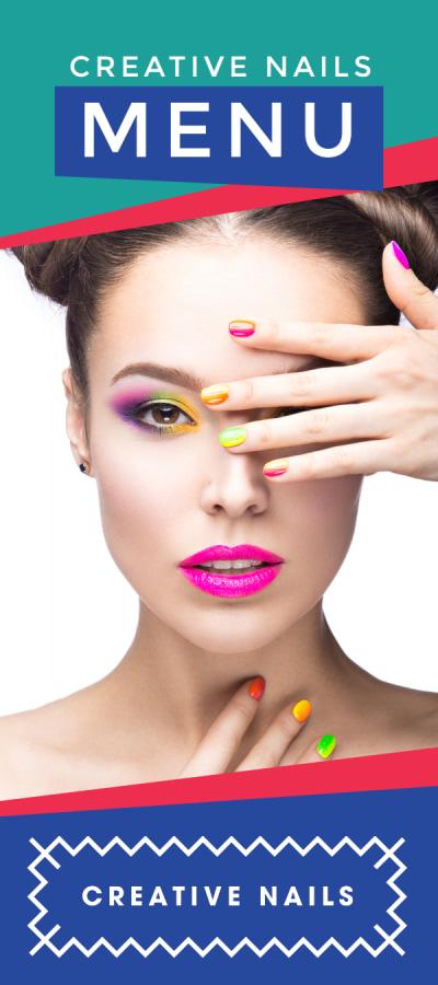 Colorful Nail Salon Menu Template Preview 1