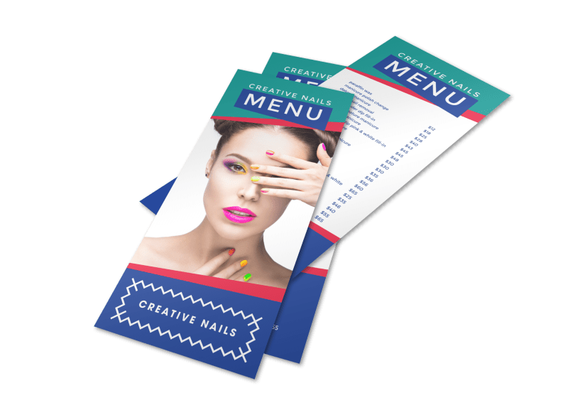 Colorful Nail Salon Menu Template Preview 1