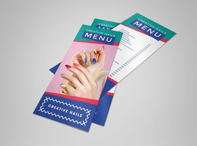 Colorful Nail Salon Menu Template