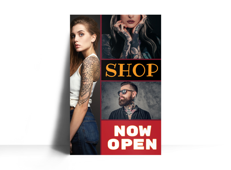 Tattoo Shop Poster Template