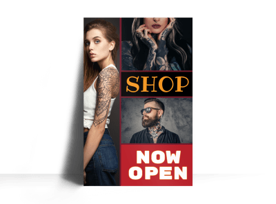 Tattoo Poster Templates Template Preview