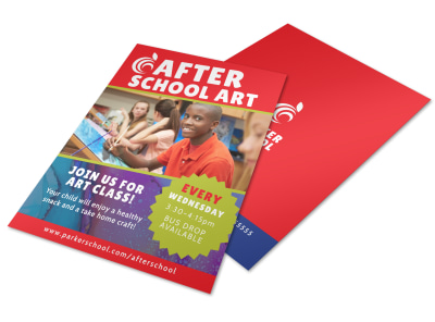 After School Art Program Flyer Template preview