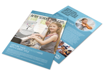 After School Music Program Flyer Template preview