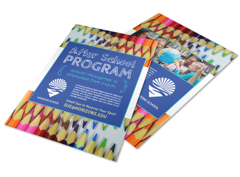 fun after school program flyer template mycreativeshop