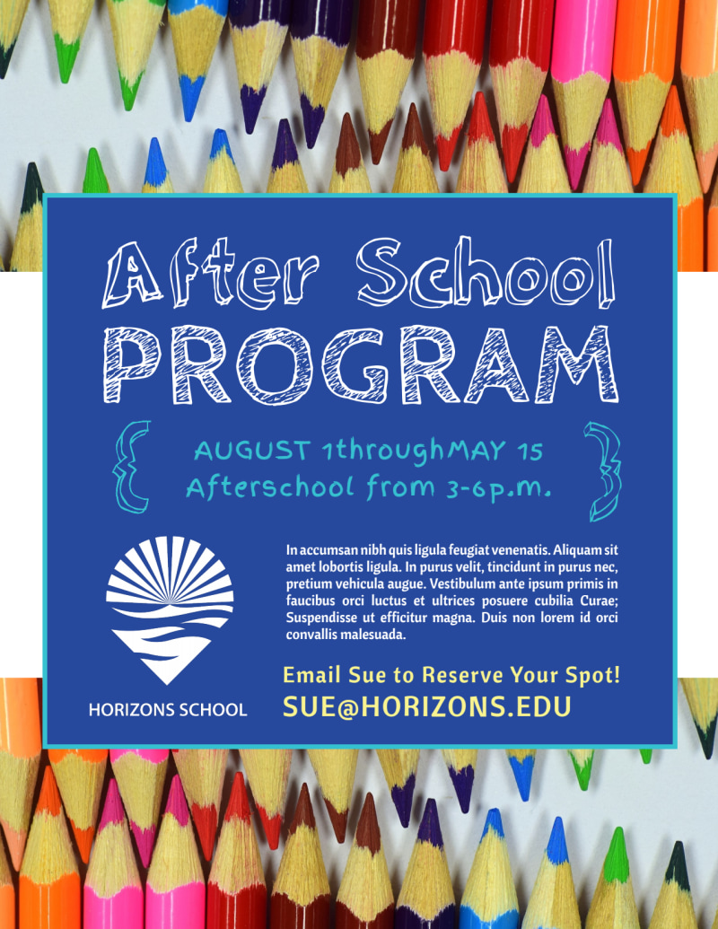 Fun After School Program Flyer Template Preview 2