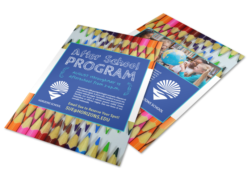 Fun After School Program Flyer Template Preview 1