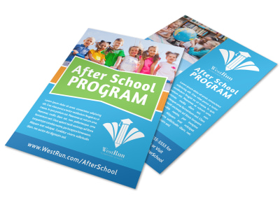 Classic After School Program Flyer Template preview