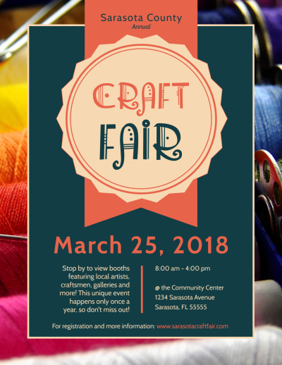 Awesome Craft Fair Flyer Template Preview 1