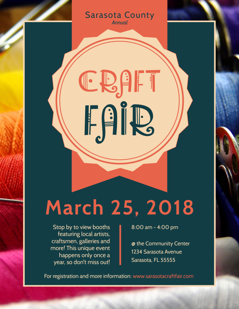 Awesome Craft Fair Flyer Template Preview 2