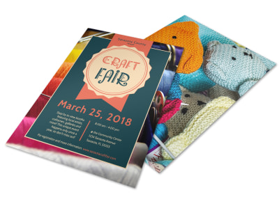 Awesome Craft Fair Flyer Template preview