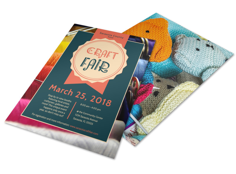Awesome Craft Fair Flyer Template Preview 4