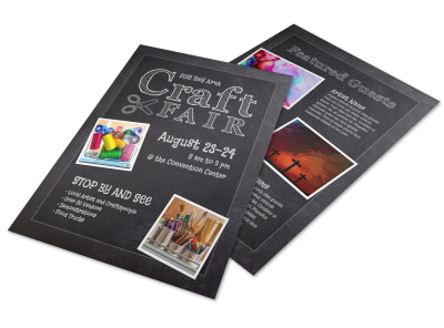 Beautiful Craft Fair Flyer Template preview