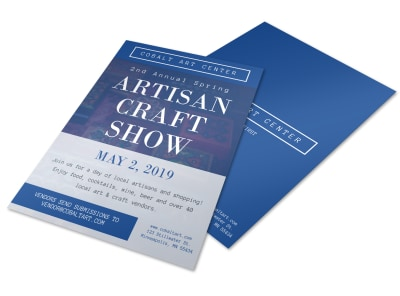 Artisan Craft Fair Flyer Template