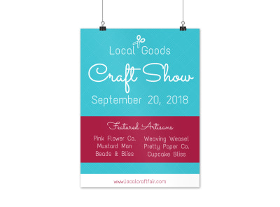 Local Goods Craft Fair Poster Template