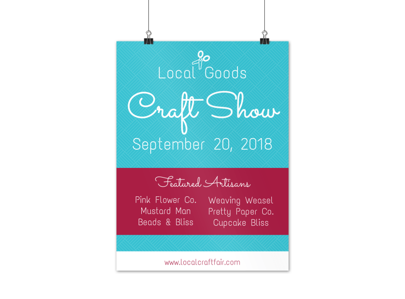 Local Goods Craft Fair Poster Template Preview 1